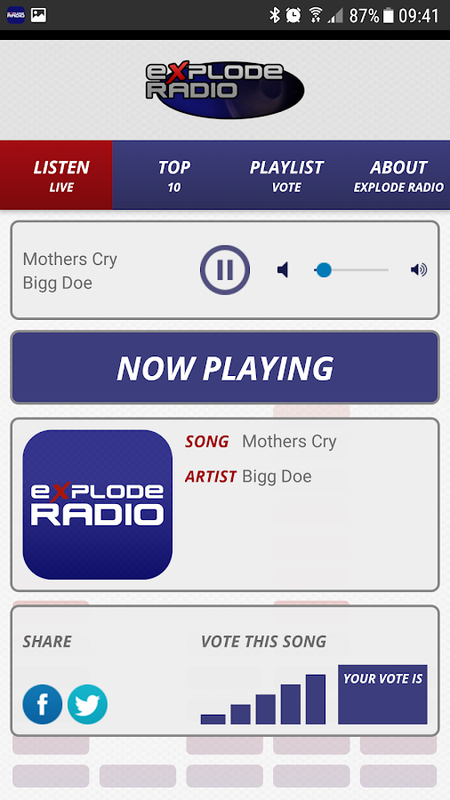 Explode Radio- screenshot