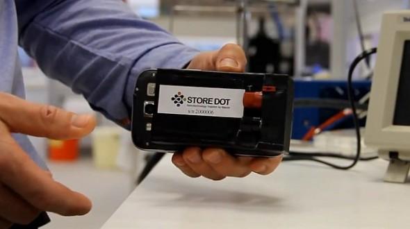 StoreDot – зарядка смартфона за 30 секунд