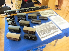 Photo: 005 Onto the narrow gauge items! Steve Bagley put on a display of some very attractive 0-16.5 stock for his Ruritanian State Railway .