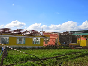 Photo: This roof-less building was once a school