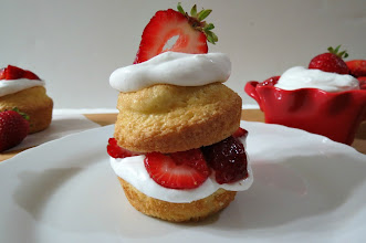 Photo: Gluten Free Strawberry Shortcake - A light, fluffy gluten free shortcake filled with fresh strawberries marinated in a pinch of bourbon.  http://www.peanutbutterandpeppers.com/2013/01/12/gluten-free-strawberry-shortcake/  #strawberryshortcake   #glutenfree   #dessert   #cake   #strawberries   #coconut   #whipcream