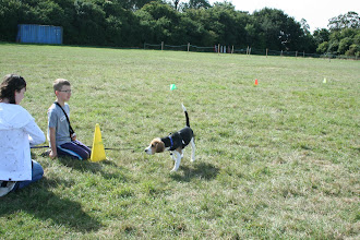 Photo: Katie and Aiden with Buddy Beagle