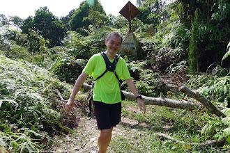 Photo: Kellee arriving at the peak of Gunung Angsi in 2 hr 30 min from the Ulu Bendul Park area.
