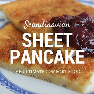 Scandinavian Sheet Pancake.