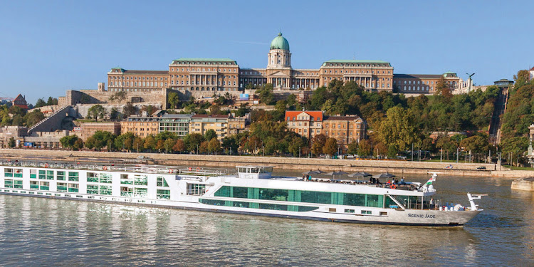 Scenic Jade passes historic sites on the Danube (click to enlarge).