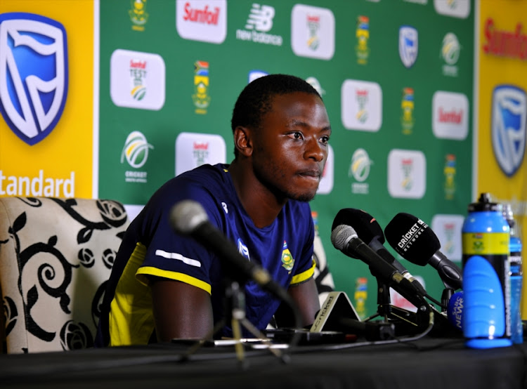 Kagiso Rabada of the Proteas at the post press conference after day 4 of the 2nd Sunfoil Test match between South Africa and Australia at St Georges Park on March 12, 2018 in Port Elizabeth, South Africa.