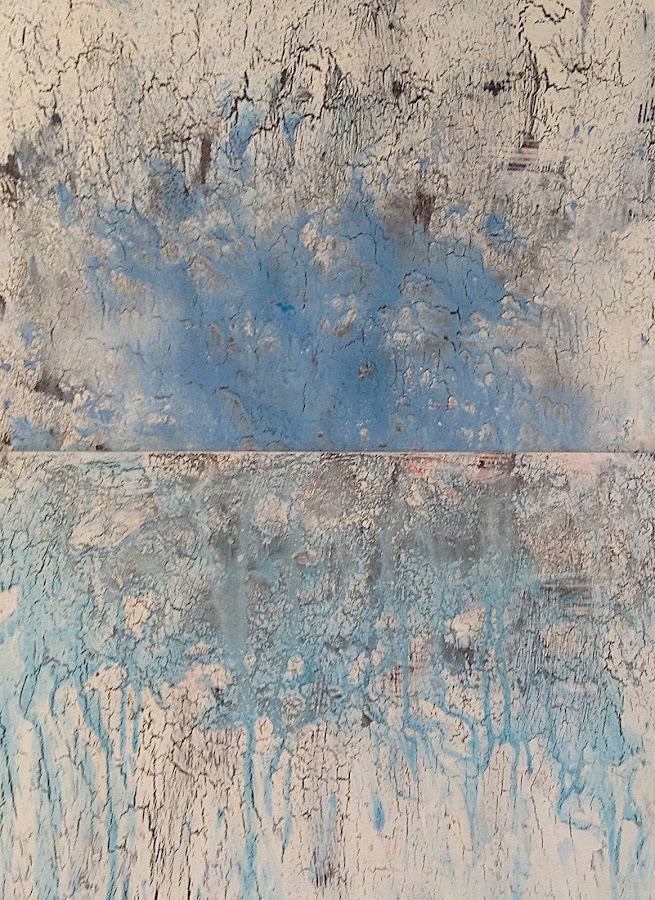 <p> 2blues<br /> 2015<br /> mixed media on paper mounted on wood<br /> 20x16in 50x40cm</p>
