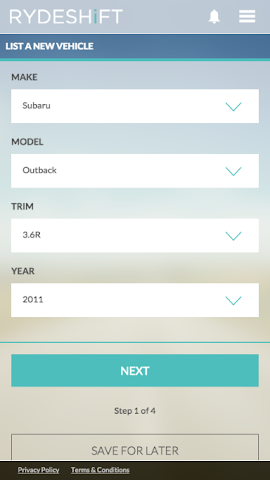 android RydeShift Screenshot 1