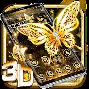 Gold Glitter Butterfly Gravity Theme