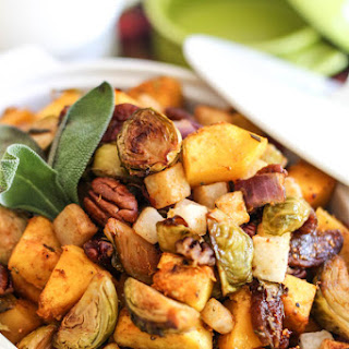 Butternut Squash, Brussel Sprouts and Jicama Hash