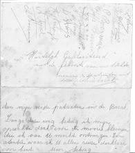 Photo: Bovenste kaart:   van de patienten in de difterie barakken,    Elizabeth ziekenhuis in Alkmaar. (1944)