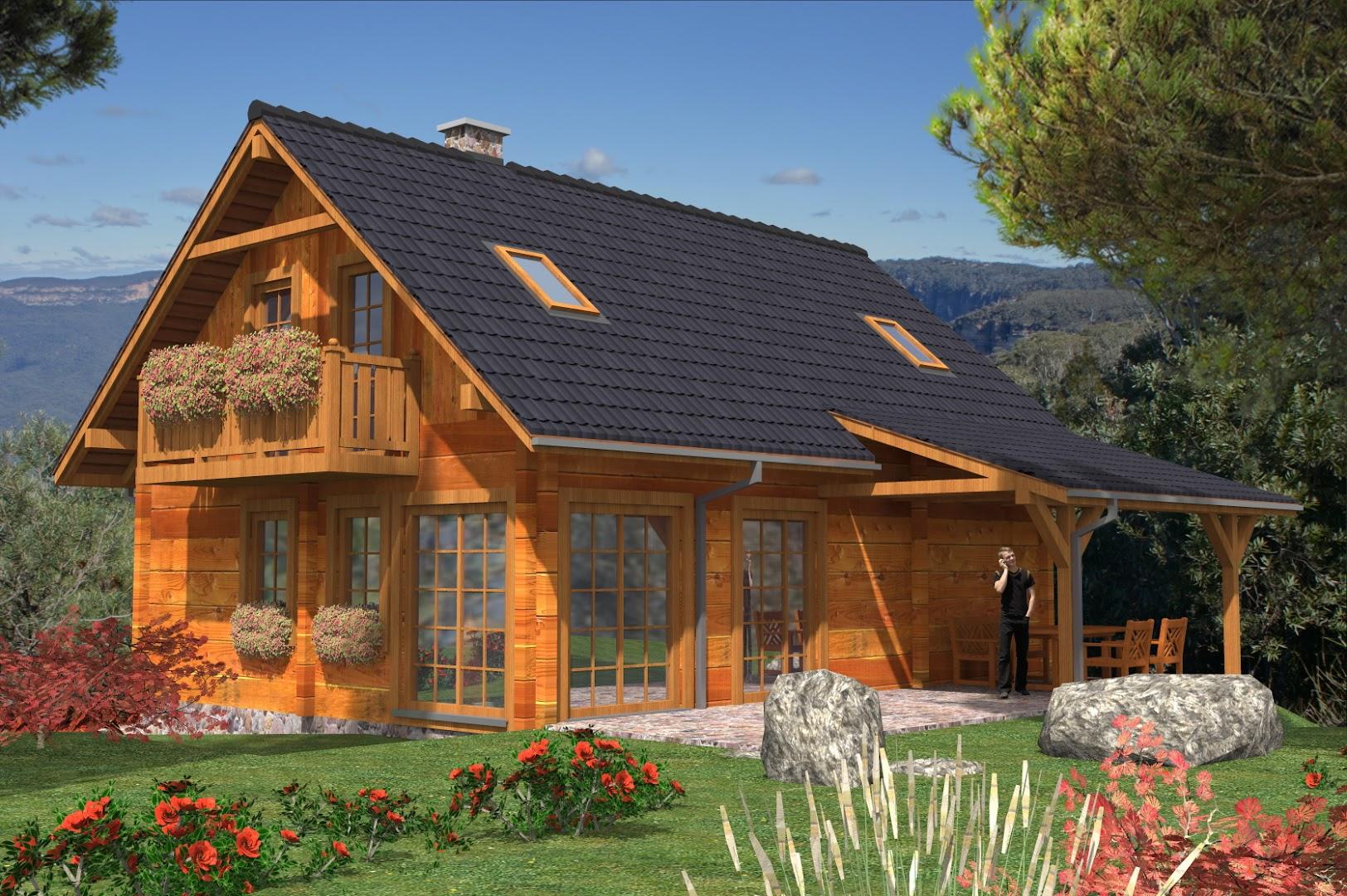Projekt Domu L 99 Szkielet Drewniany Trc 278 1146m²