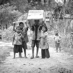 Youth United by Rahat Amin - Babies & Children Child Portraits ( village, childen, street, kids, fun, playtime )