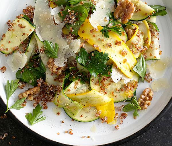 Summer Squash And Red Quinoa Salad With Walnuts Recipe | Epicurious.com
