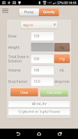Screenshot of IV Infusion Calculator