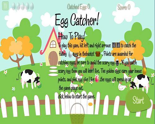 卵キャッチャーゲーム