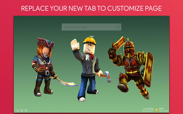Roblox Wallpaper HD Custom New Tab
