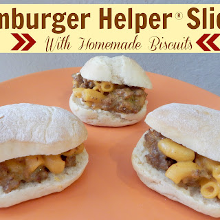 Hamburger Helper Sliders With Homemade Biscuits.