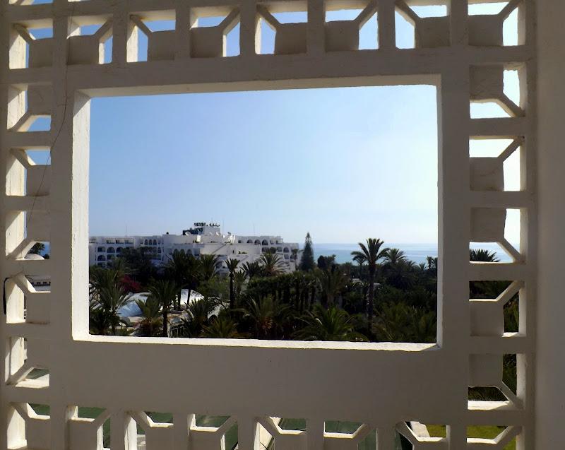 la costa tunisina in cornice di pilotto