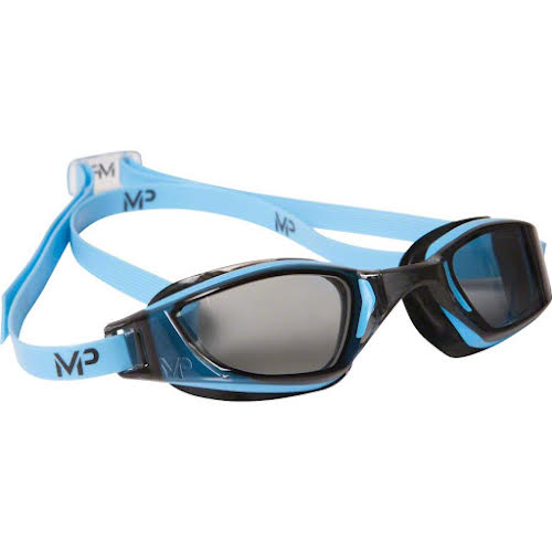 Michael Phelps Xceed Goggles: Blue/Black with Smoke Lens