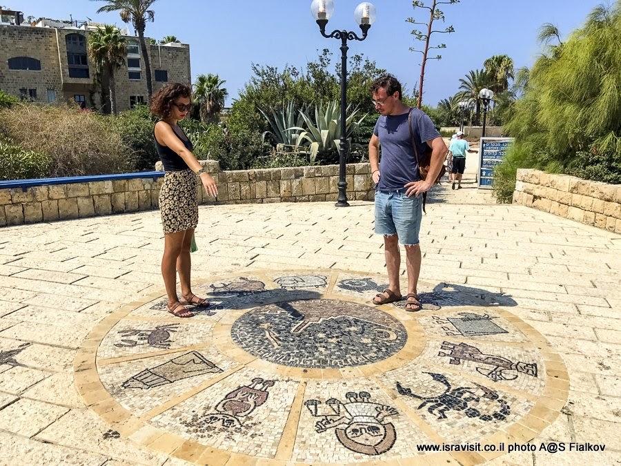 Зодиакальный круг в Яффо. Экскурсия в Яффо, Израиль.