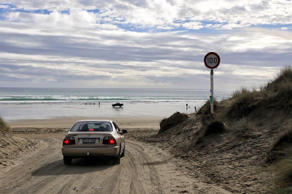 jak wypożyczyć samochód, Nowa Zelandia, 90 Mile Beach