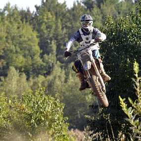 in the air by Jean-Pierre Machet - Sports & Fitness Motorsports ( the jump, dans les air, le saut, in the air,  )