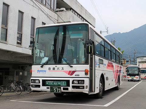日田バス「ゆふいん号」 486 亀の井バス湯布院車庫にて