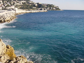 Photo: The sea color which gives the Cote d'Azur its name.