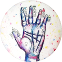 Palmistry palm reading icon