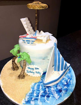 Seaside themed cake