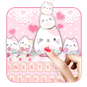 Lovely Cute Kitty Keyboard