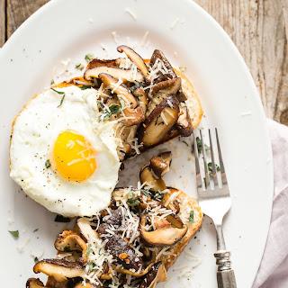 Garlic Shiitake Mushroom Breakfast Toast.