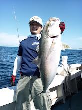Photo: おおー!ナイスサイズです!カンパチ4.5kgでしたー!