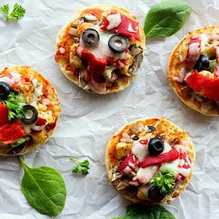 Barbecue Chicken English Muffin Pizza