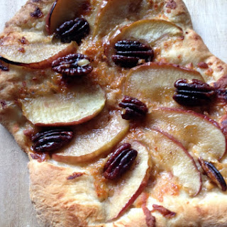 Maple-Glazed Pecan, Apple, and Parmesan Pizza