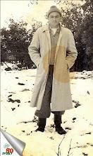 Photo: אהרון דוד בשלג שירד ב1951