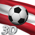 Austria Football Team Flag 3D icon