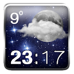 Stars Weather Clock Widget