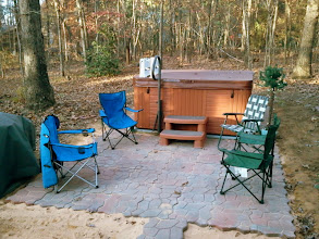 Photo: Buying the Ezpad was the best thing of this project. I built a frame then filled with sand.  The Hot Tub company had never seen a pad. Thanks for making a great product.  James C, Iron Station NC