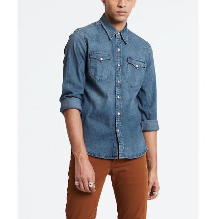 Levi's Barstow Western shirt bruised indigo