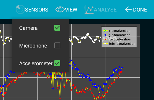 Lablet - Physics Sensor Lab- screenshot
