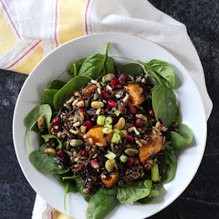 Wild Rice Salad with Pomegranate & Roasted Squash.