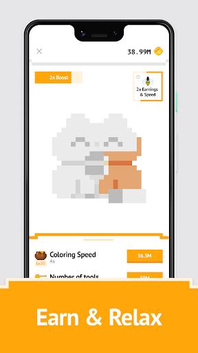 Idle Pixel Art Coloring - Tap tap to color clicker 1.0.2 Mod screenshots 2