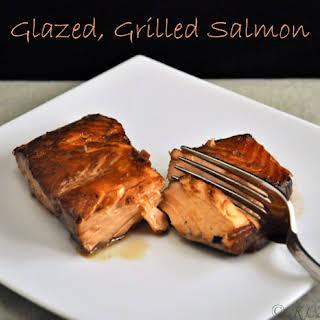 Grilled Glazed Salmon.