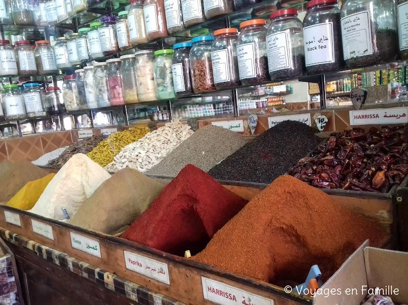 Marrakech - souks épices