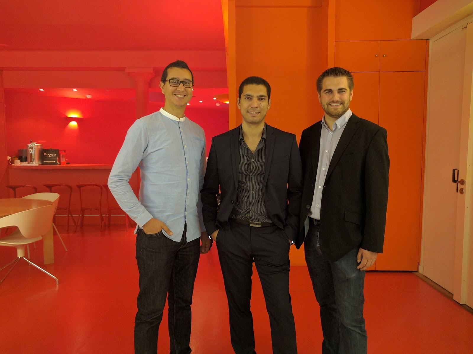 De g à d - Said El Haddati, Yassine Chabli et Quentin Georget, Cofondateurs de Beekast - Via Beekast
