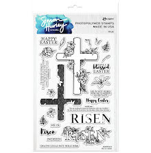 Simon Hurley create. Clear Stamps 6X9 - He is Risen!