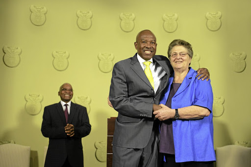 BANK ON IT:  Inflation is on target, says Reserve Bank governor Lesetja Kganyago, seen here taking over from Gill Marcus in October 2014 Picture: GALLO IMAGES