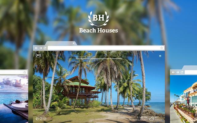 Beach Houses Hd Wallpaper New Tab Theme